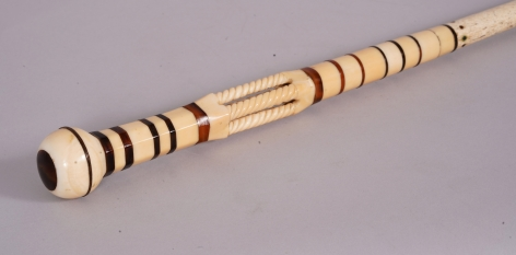 Fine Whale Ivory, Baleen and Whale Bone Architectural Cane