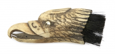 Walrus Tusk Tip Carved in the Form of an Eagles Head, American Last Quarter 19th Century