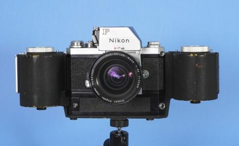 Rare Nikon FTN Black Body with Nikon 250 Exp. Bulk Film Back with Nikkor 20mm Lens