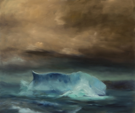 Karen Marston Iceberg In Rough Sea, 2017 Oil on linen