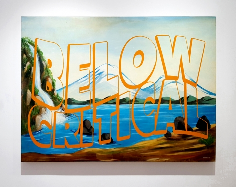 """dina gadia painting with text """"below critical"""""""