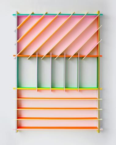 chiaozza Fruit Basket, 2017 Acrylic on wood 46 x 33 x 2 in. / 117 x 83.8 x 5.1 cm.