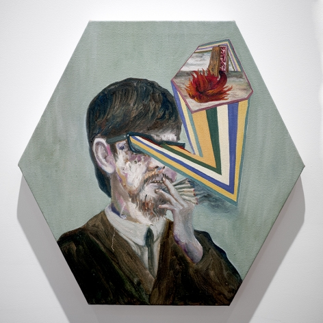 Mariano Ching Smoker painting