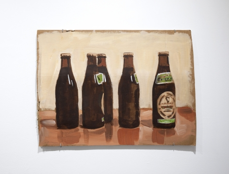 Walter Robinson beer bottles painting