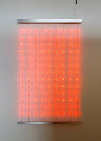 Kenzan Tsutakawa-Chinn Residual Comparison (2), 2017 Custom LED chips, arduino, rope-laid wire and aluminum