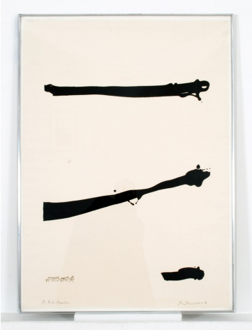 Robert Motherwell Talith for Meyer Shapiro, 1973 Aquatint 41 1⁄2 x 29 1⁄2 in. / 105.4 x 79.4 cm. Edition of 10