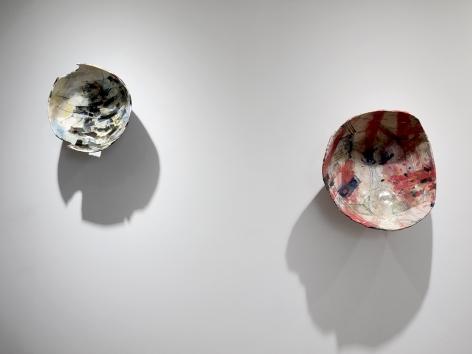 Rachael Gorchov installation of ceramic sculptures