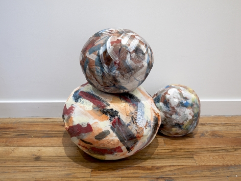 Rachael Gorchov Ionic (i, ii, iii), 2016 Glazed ceramic in 3 parts 17 1/4 x 21 x 16 in. / 43.8 x 53.3 x 41 cm. overall