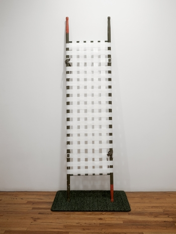 mark mann standing field stretcher sculpture