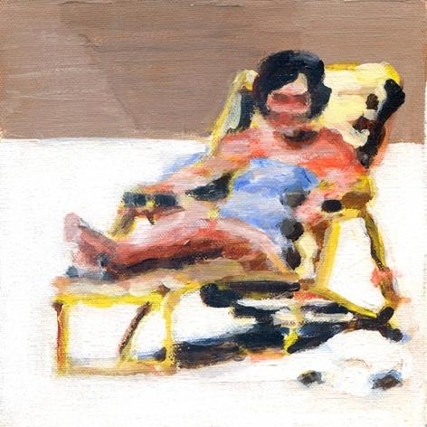 mark mann O.U.P. - Thelma, 2015 Acrylic on canvas 8 x 8 inches (framed)