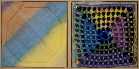 Alan Shields Untitled A, 1972 Mixed media book 19 1/2 x 19 1/2 in. (49.5 x 49.5 cm) Edition of 30 (part 1/2)