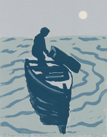 Richard Bosman Buried at Sea, 1987 Linocut 22 1/2 x 17 3/4 in. / 57.1 x 45.1 cm.
