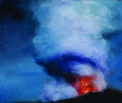 Karen Marston ​Blue Sky Volcano, 2016 Oil on linen