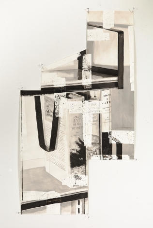 Björn Meyer-Ebrecht Untitled (Bookshelves), 2016 Ink and tape on paper 53 1/4 x 29 in. / 135 x 74 cm.