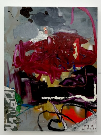 Thaiwijit Puengkasemsomboon Untitled (Purples), 2017 oil and spray paint on canvas