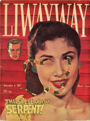 Dina Gadia ​Liwayway (Flattering Portrait of '57), 2015 Collage 11 3/8 x 8 7/8 in. / 29 x 22 cm.