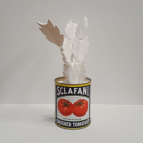 mark mann Sclafini Crab, 2017 Plaster and metal can 12 x 6 x 6 inches Edition of 4