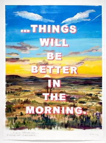 David Kramer sunset painting Plain Optimism