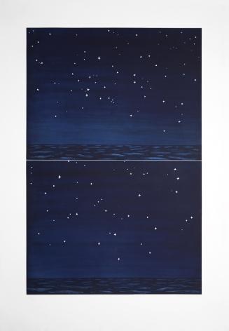 Richard Bosman Night Sky, 1990 Aquatint etching 44 x 30 in. / 111.8 x 76.2 cm.