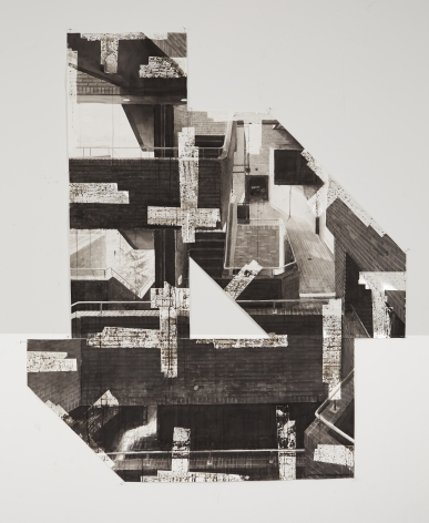 Björn Meyer-Ebrecht Untitled (Stairs), 2017 Ink and tape on paper 72 x 61 in. / 183 x 155 cm.
