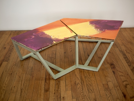 Björn Meyer-Ebrecht Untitled (Platform 6), 2019 Wood, plywood, acrylic paint, acrylic  polyurethane and screws