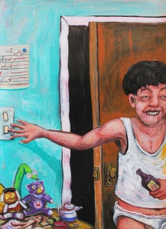 Robert Langenegger drunk boy painting