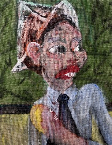 Danny Licul Sock Puppet Presentation (#3), 2012 Acrylic and oil on canvas 12 x 9 in. / 30.5 x 22.9 cm.