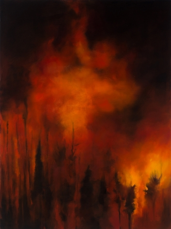karen marston Ablaze, 2016 Oil on linen 48 x 36 in. / 121.9 x 91.4 cm.