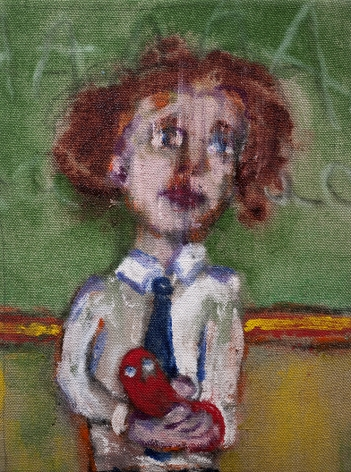 Danny Licul Sock Puppet Presentation (#12), 2012 Acrylic and oil on canvas 12 x 9 in. / 30.5 x 22.9 cm.