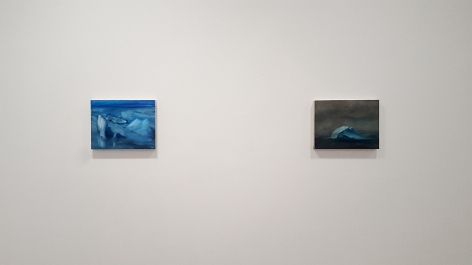 karen marston two small iceberg paintings