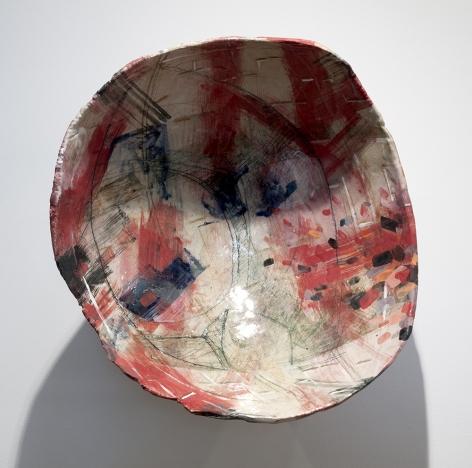Rachael Gorchov Museum Portal, 2016 Glazed ceramic 18 x 18 x 9 1/4 in. / 45.7 x 45.7 x 23.5 cm.