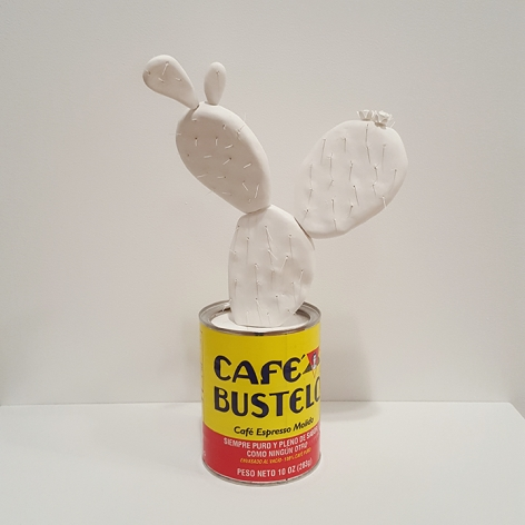 mark mann Bustelo Cactus, 2015 Plaster and metal can 12 x 6 x 6 inches Edition of 4