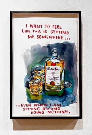 David Kramer liquor bottles drawing