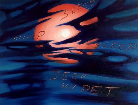 David Sandlin Deep Sleep, 2015 Oil on canvas 20 x 24 in. / 50.8 x 51 cm.