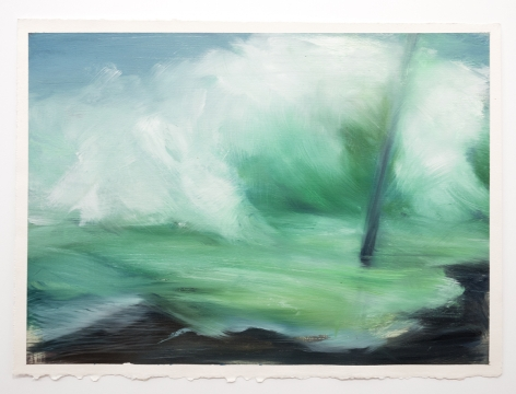 Karen Marston ​Utility Pole in Waves, 2013 Oil on paper