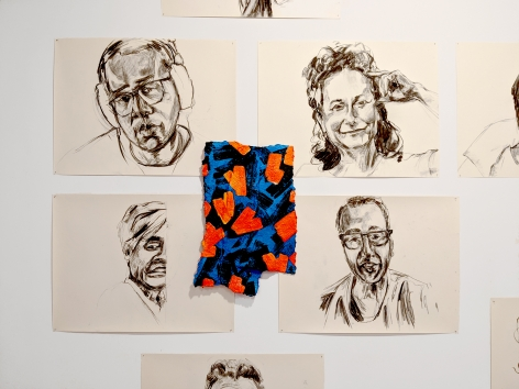 Gorchov drawings and paintings installation