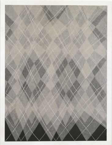 Takuji Hamanaka ​Argyle, 2008 Japanese woodcut with Gampi paper collage 12 1/4 x 10 in. / 31.1 x 25.4 cm.