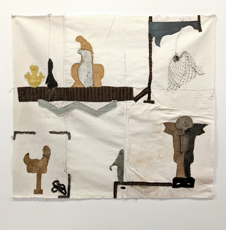fanny allie hanging net fabric collage