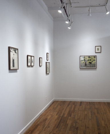 Elin Rodseth exhibition of woodcuts and photopolymer prints installation view