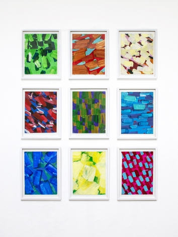 Rachael Gorchov abstract painted paper group