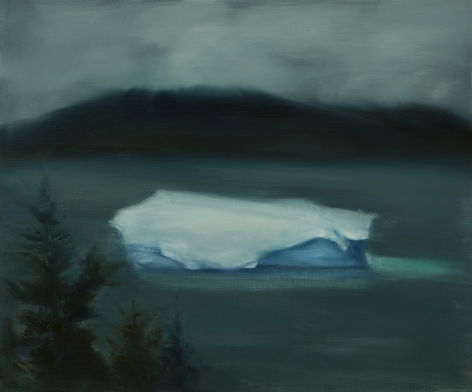 Karen Marston Iceberg In Mist 1, 2017 Oil on panel