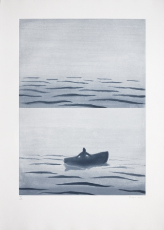 Takuji Hamanaka Landsliding, 2012 Japanese woodcut with Gampi paper collage 28 x 22 in. / 71.1 x 55.9 cm.