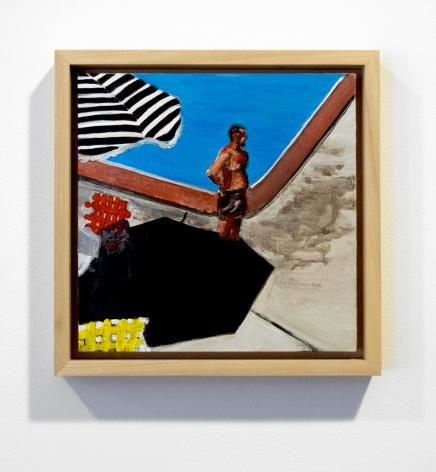 mann part shade framed painting