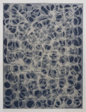 Takuji Hamanaka Negative Circle, 2008 Japanese woodcut with Gampi paper collage 12 3/4 x 9 7/8 in. / 32.4 x 24.9 cm.