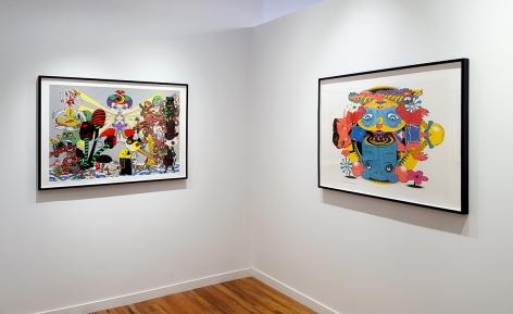 Phunk and Keiichi Tanaami artwork installation view