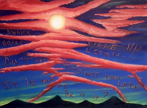 David Sandlin Wake Up, 2015 Oil on canvas 20 x 24 in. / 50.8 x 51 cm.