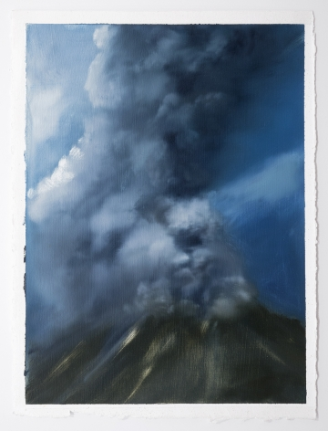 Karen Marston ​Volcano Study 3, 2014 Oil on paper