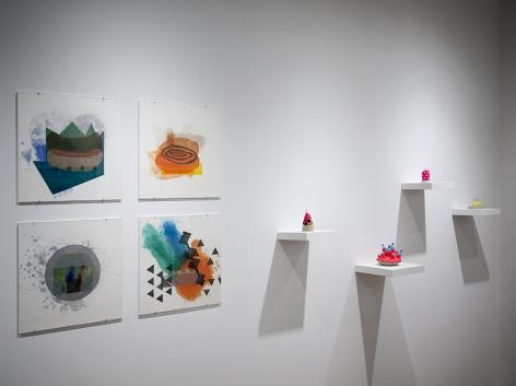 Rachael Gorchov, Richard Tuttle and Chiaozza installation view