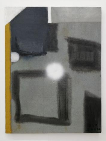 Thaiwijit Puengkasemsomboon Untitled (yellow stripe), 2017 oil on canvas