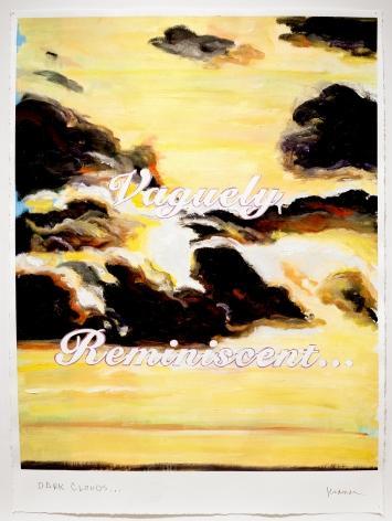 David Kramer sunset painting Dark Clouds